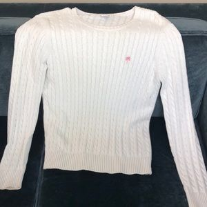 Lily Pulitzer White Cable knit Sweater Size Large